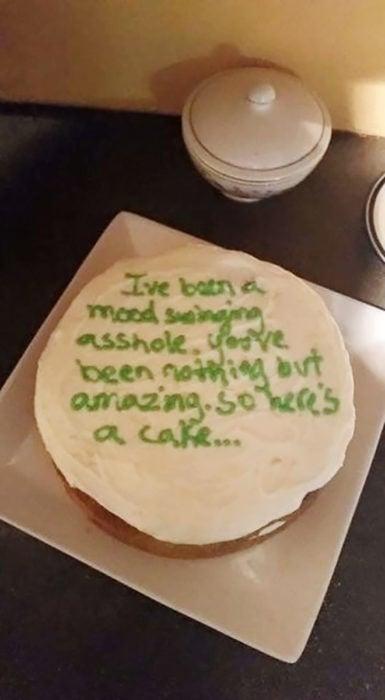 pastel de disculpas