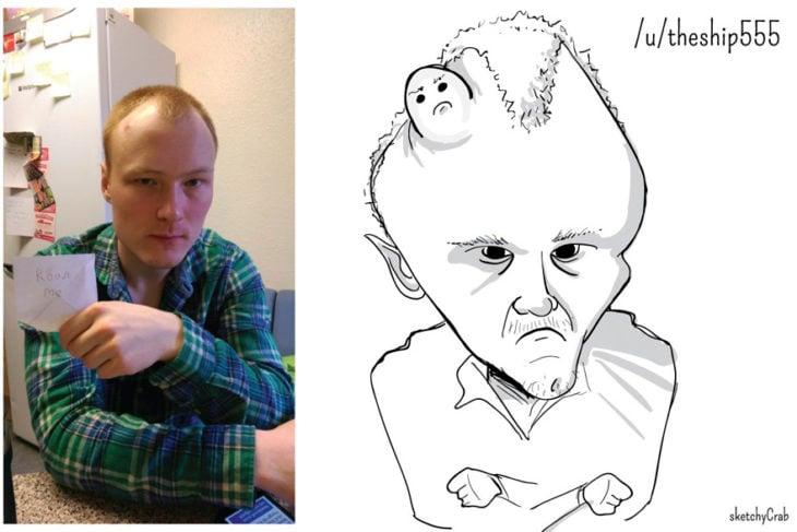 caricatura hombre con barro