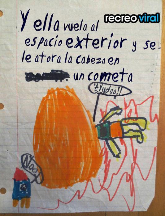 dibujo agresivo hecho por un niño
