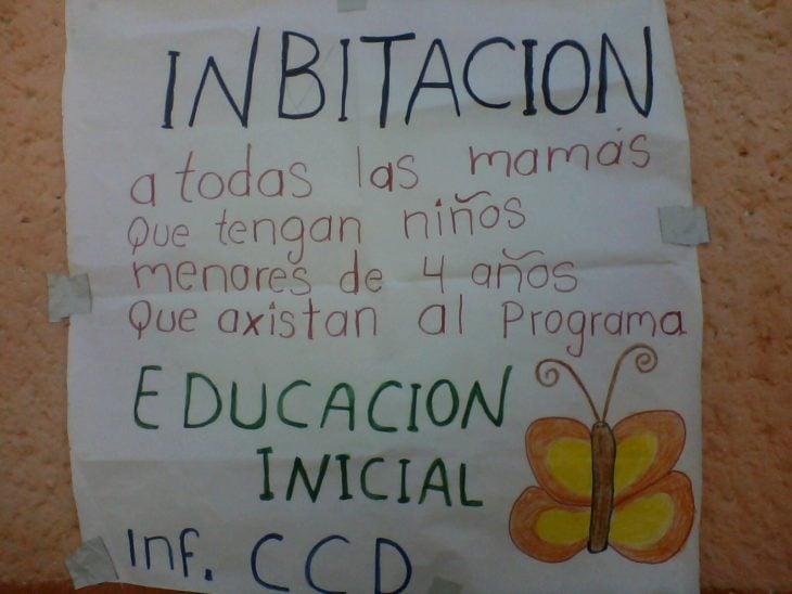 cartel escrito con falta de ortografía