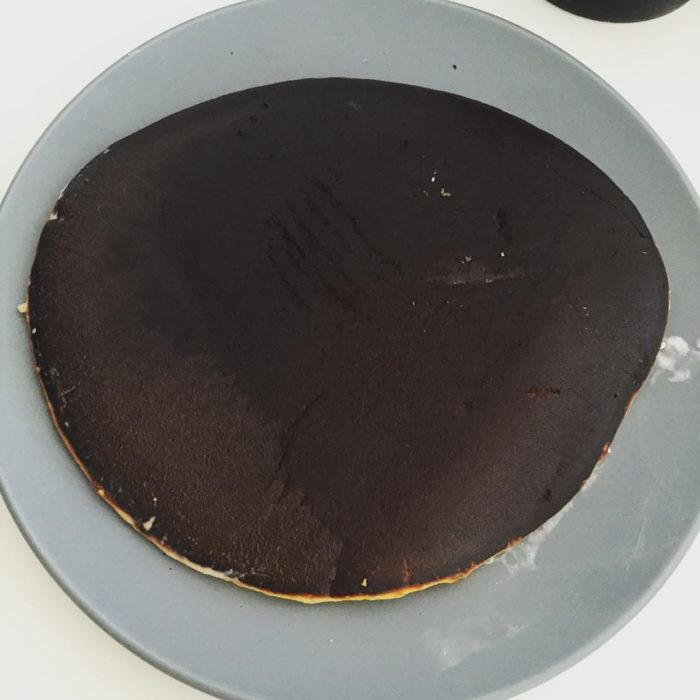 hot cake quemado
