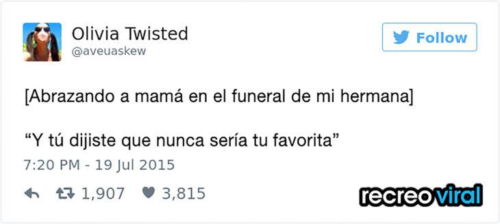 tuit funeral de mi hermana