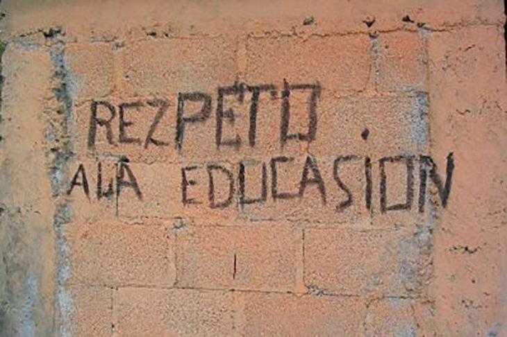 graffiti con faltas ortográficas
