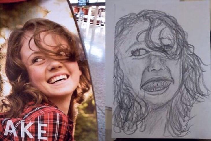 dibujo mal hecho de una persona