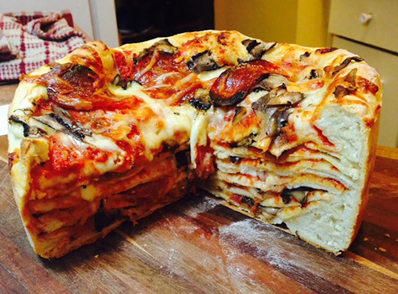 пицца торт рецепт с фото того
