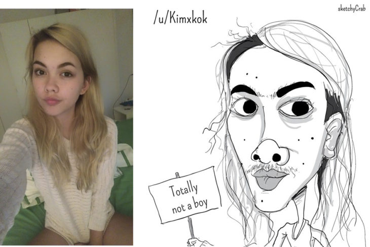 caricatura de chica