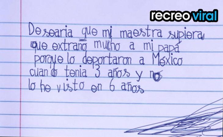 nota niño mi papá fue deportado