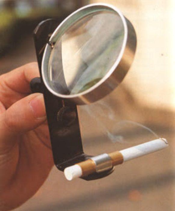 lupa para encender cigarro