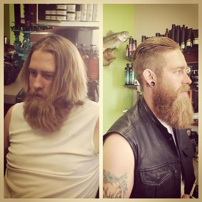 rubio con barba
