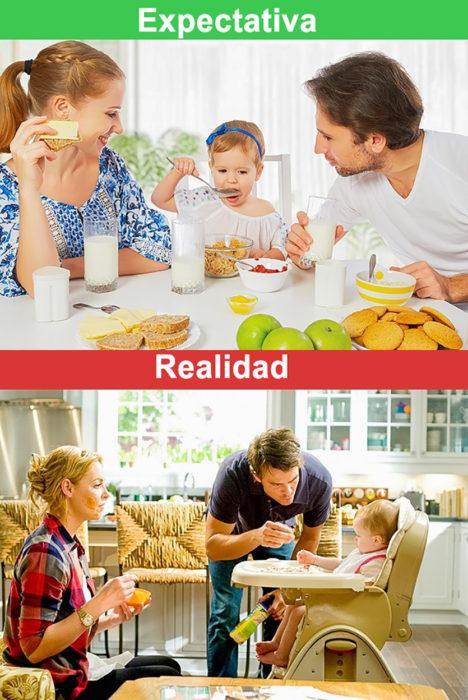 desayuno familiar expectativa y realidad