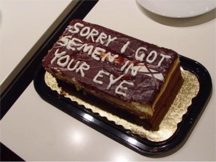 pastel gracioso de disculpas