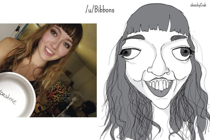 caricatura mujer deforme
