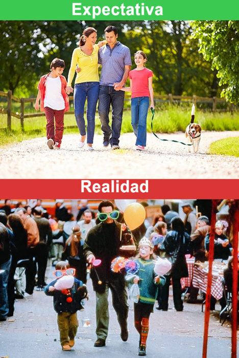 paseo familiar expectativa vs realidad