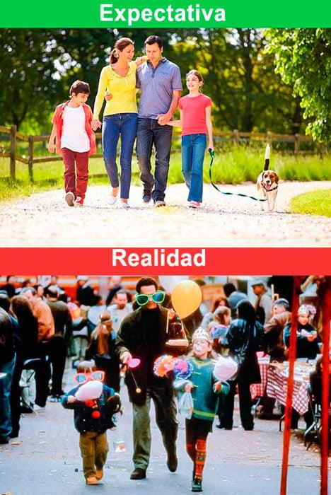 paseo familiar expectativa vs realidad