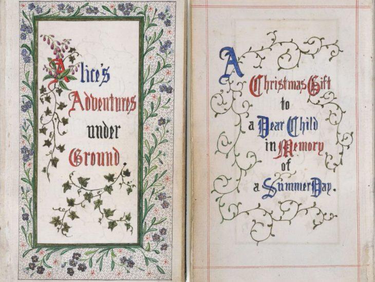 Manuscrito de alicia en el país de las maravillas
