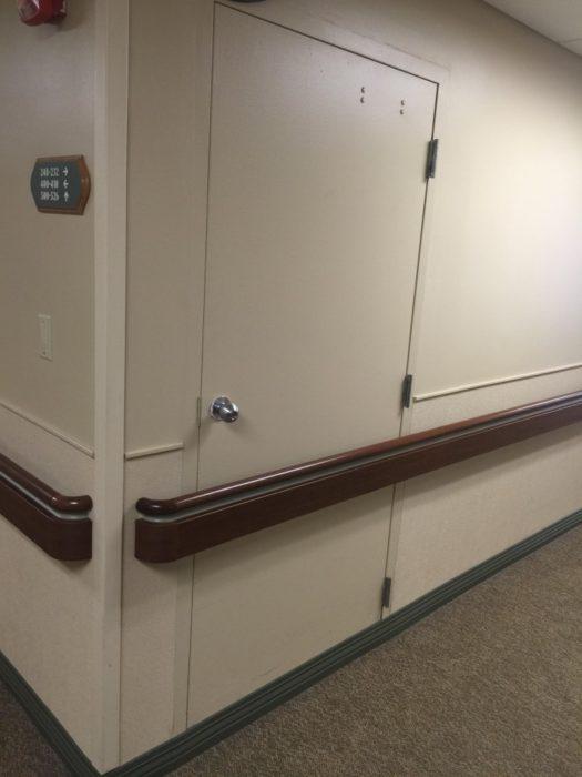 puerta imposible de abrir