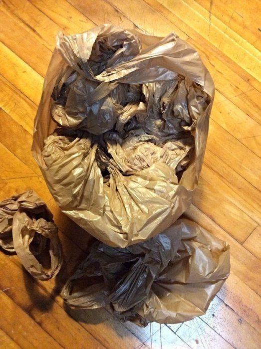 bolsa llena de bolsas