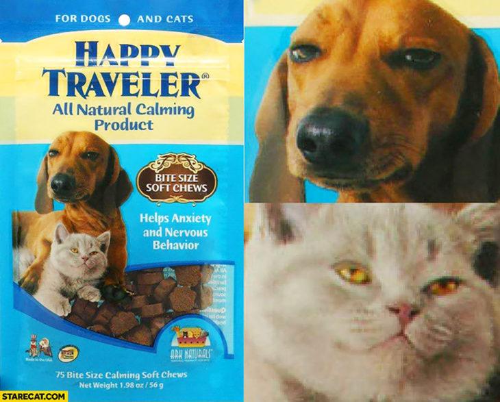 envoltura de calmantes para mascotas