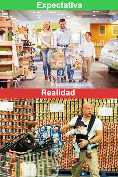 expectativa vs realidad ir de compras