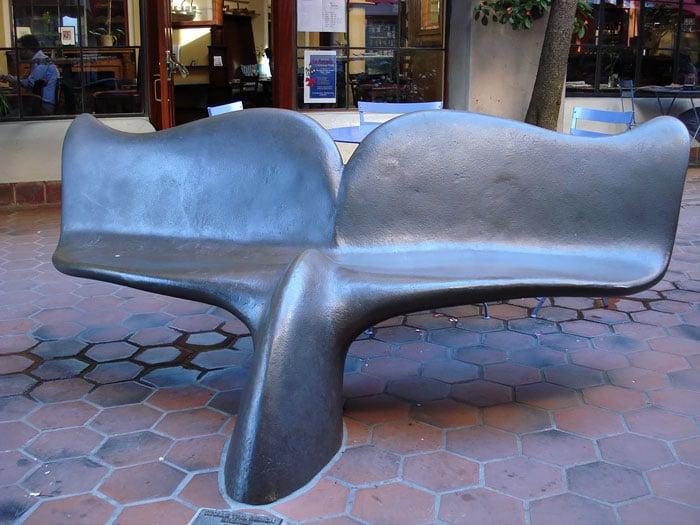 banca en forma de cola de ballena