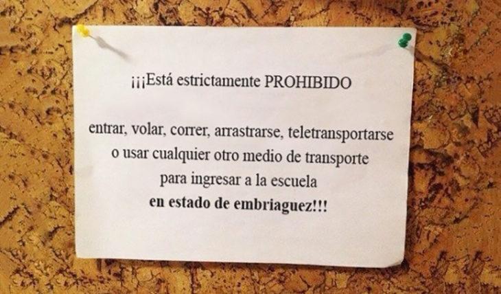 prohibido teletransportarse