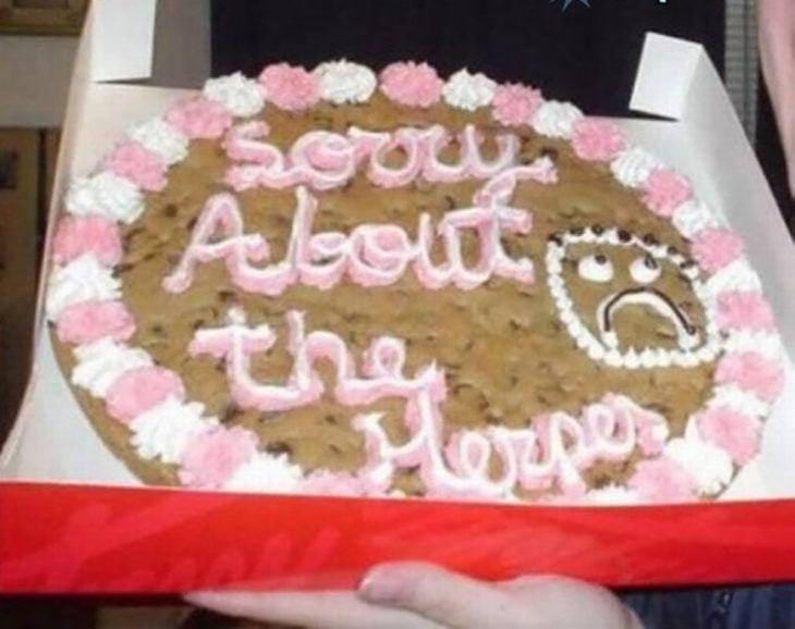 pastel perdón por el herpes