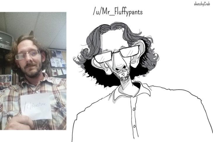 joven caricatura