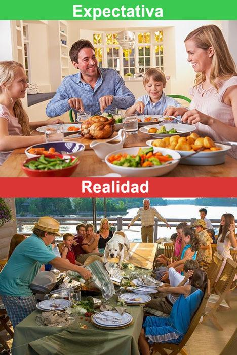 reuniones familiares expectativa vs realidad