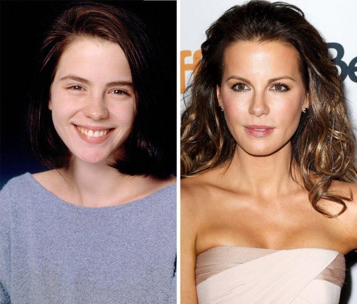 Kate Beckinsale antes y después de ser famosa