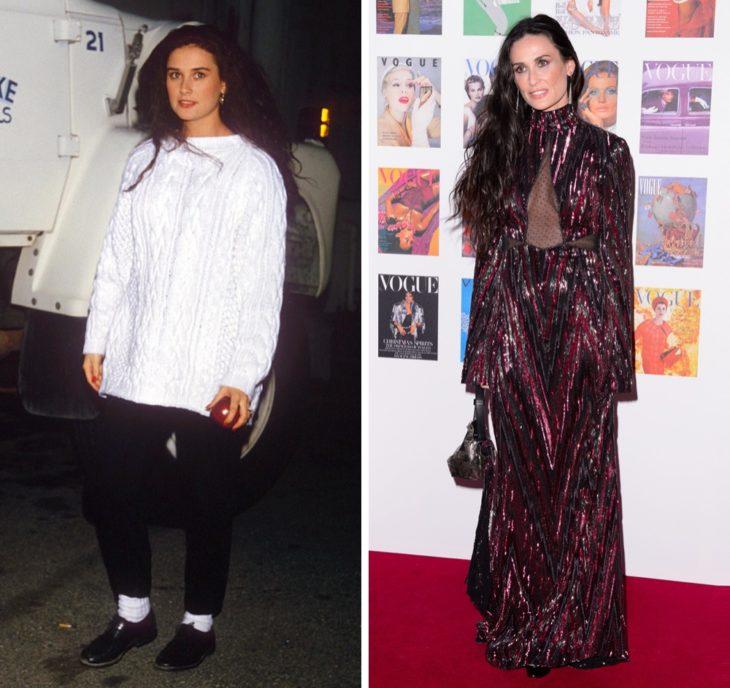 Demi Moore antes y después de ser famosa