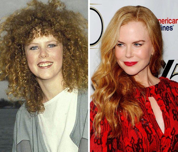 Nicole Kidman antes y después de ser famosa