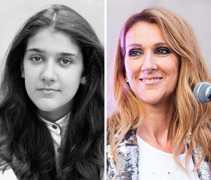 Celine Dion antes y después de ser famosa