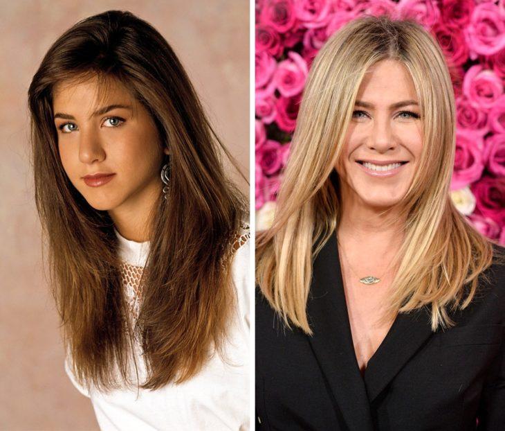 Jennifer Aniston antes y después de ser famosa