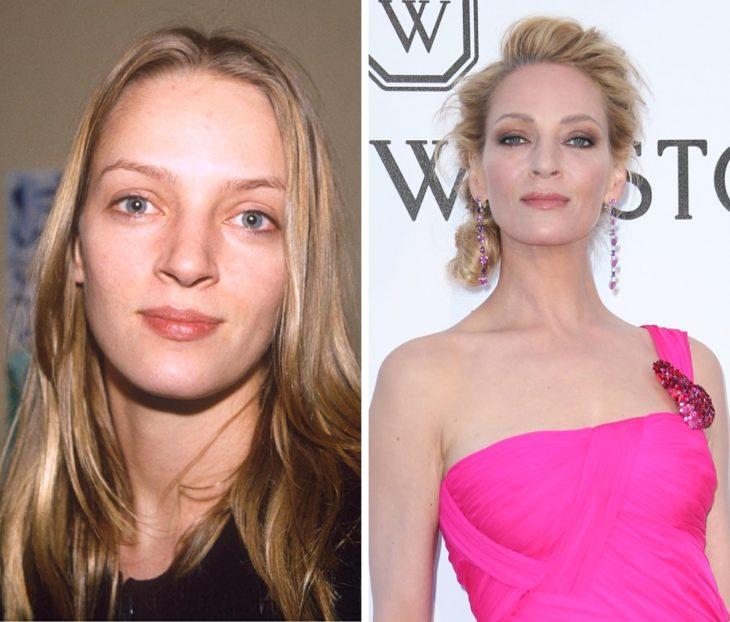Uma Thurman antes y después de ser famosa