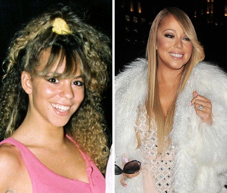 Mariah Carey antes y después de ser famosa