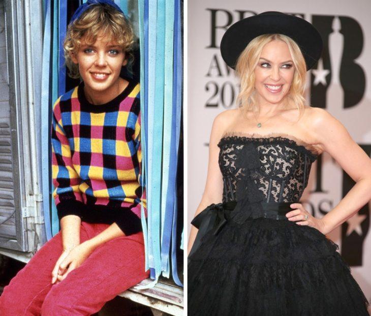 Kylie Minogue antes y después de ser famosa