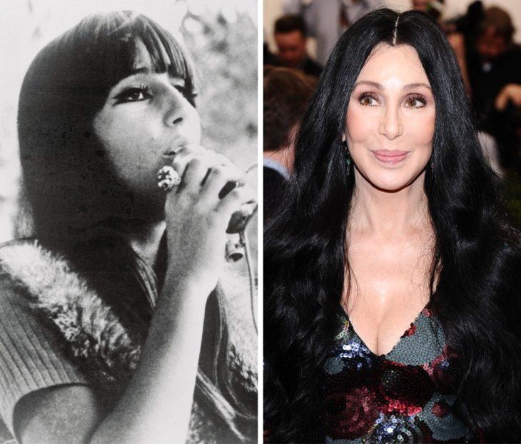 Cher antes y después de ser famosa