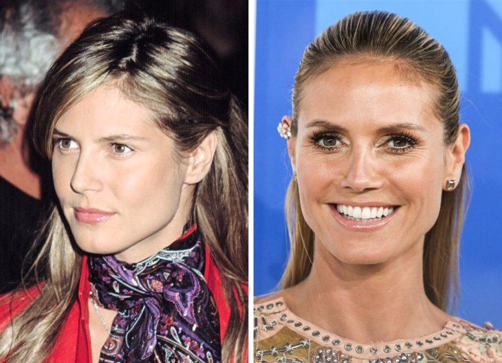 Heidi Klum antes y después de ser famosa