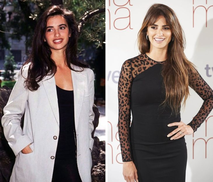Penèlope Cruz antes y después de ser famosa