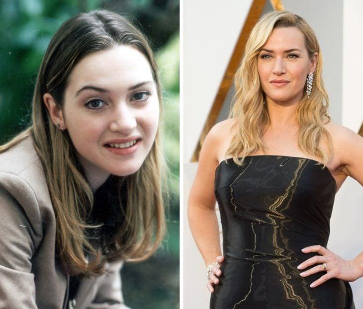 Kate Winslet antes y después de ser famosa