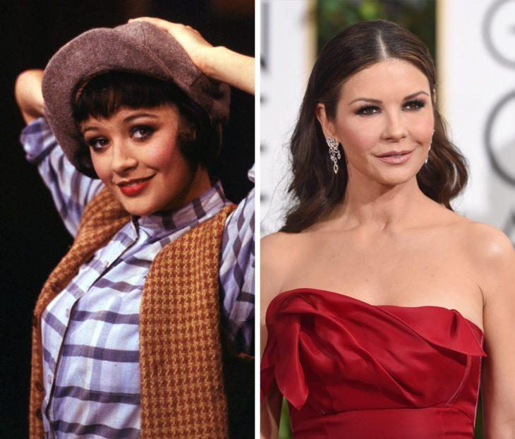 Catherine Zeta-Jones antes y después de ser famosa
