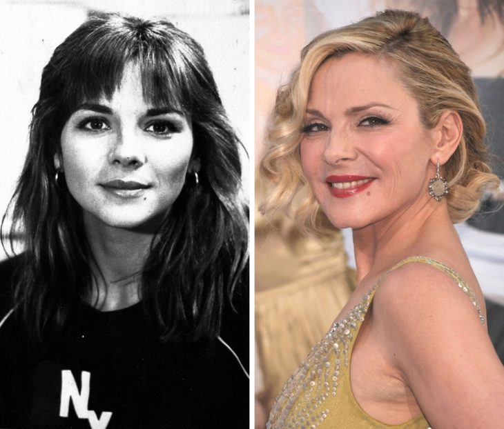 Kim Cattrall antes y después de ser famosa