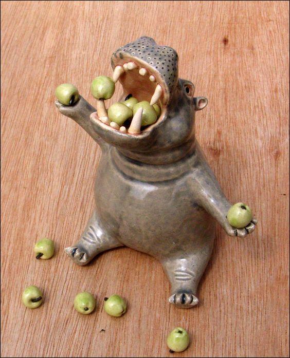 Para las aceitunas de hipopótamo
