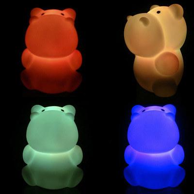 Luz neón de hipopótamo