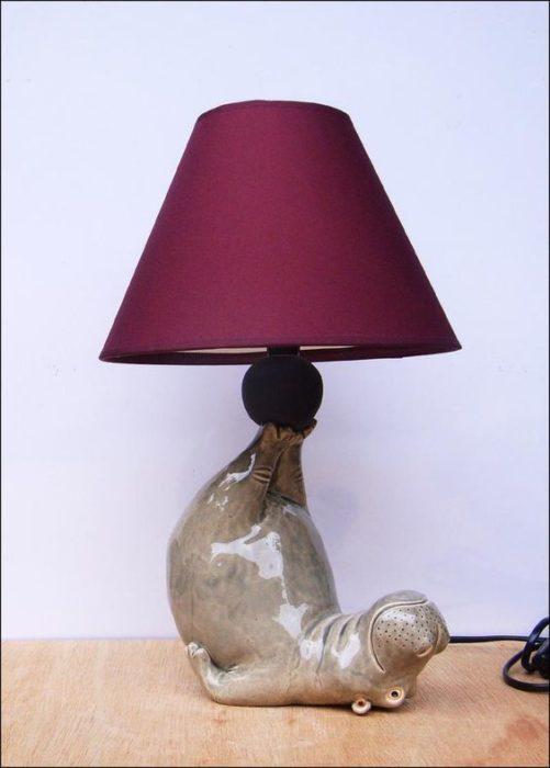 Lámpara de hipopótamo