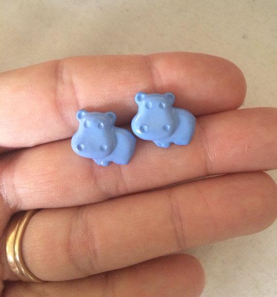 Aretes de hipopótamo