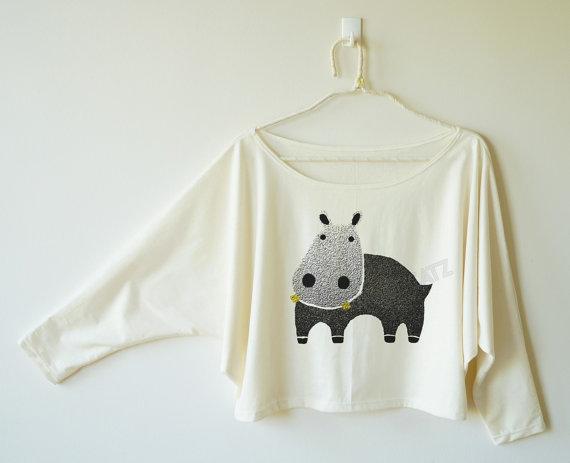 Blusa de hipopótamo