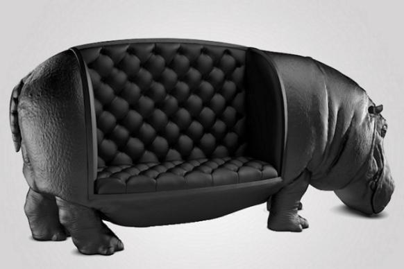 Sillón de hipopótamo