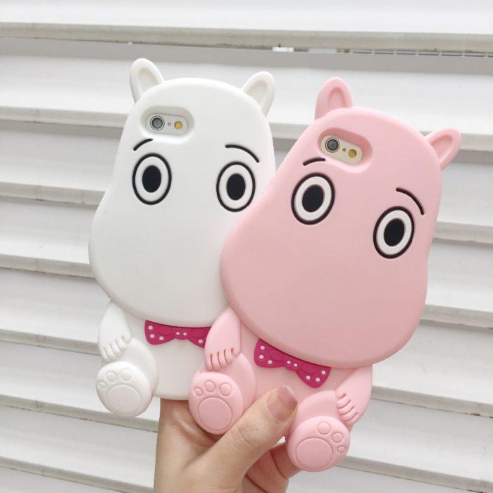 Funda para celular de hipopótamo