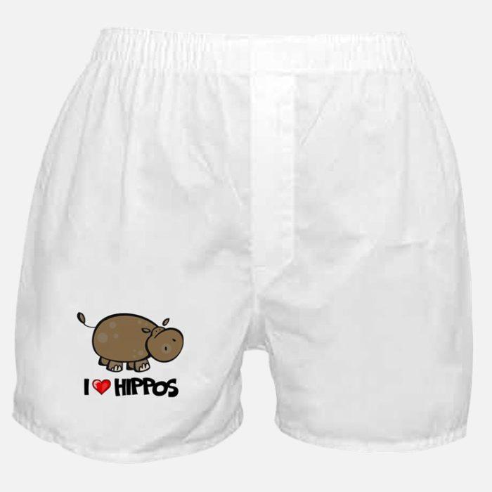 Boxers de hipopótamo